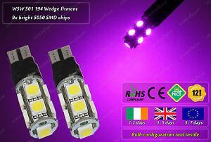 2x-LED-T10-W5W-501-12000k-Xenon-HID-Police-Strobe-Flash-Side-Lights-Parking-Bulb