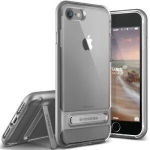 VRS-design-cristal-pare-chocs-bequille-Case-Pour-Apple-iPhone-7-Plus-Acier-Argent