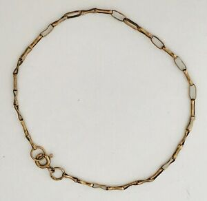 Vintage-Fully-Hallmarked-9ct-Yellow-Gold-Chain-375-Bracelet-8-034-1-90g-D6D1