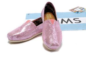 Rose Pink Glitter Flats Slip-On Shoes