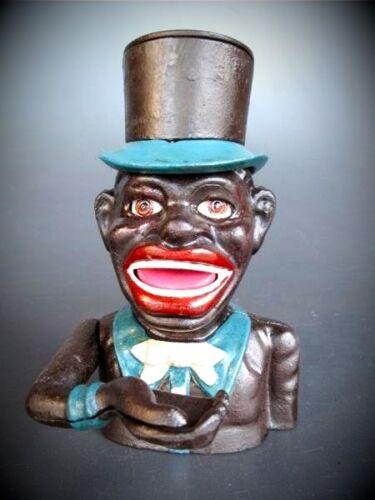 Spardose Figur Jolly mit Zylinderhut Geschenk Vintage Deko Spielzeug Sparspass