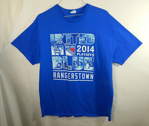 New-York-Rangers-2014-NHL-Hockey-Stanley-Cup-Finals-T-Shirt-Size-EXTRA-LARGE-XL