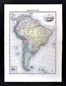 1880-Migeon-Map-South-America-Brazil-Peru-Argentina-Chile-Rio-de-Janeiro