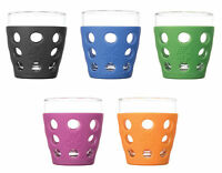 Lifefactory Glassware With Protective Silicone Sleeve, 2 Sizes, 6 Colors