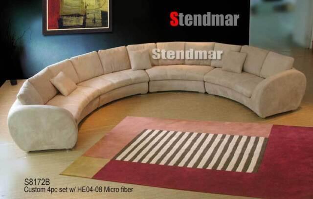 4pc Fabric Modern Round Sectional Sofa S8172b4 | eBay