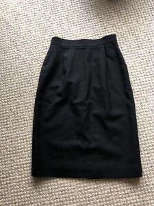 talbots women's wool skirt size 6 black business casual