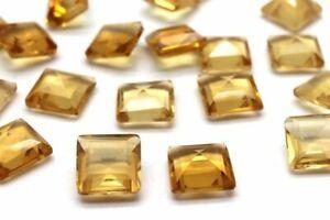 Fine-Grade-Citrine-Square-Natural-Gemstone-Loose-Gem-Crystal-Stone-DIY-Jewelry