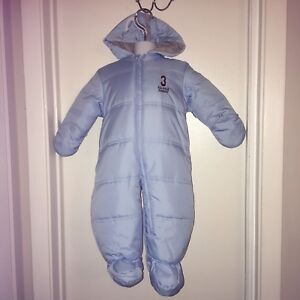 2225b8b9b Faded Glory Boys Snowsuit 6-9 months All star varsity light blue new ...