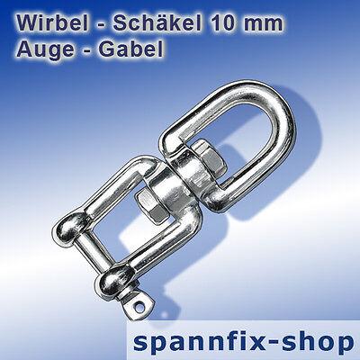 Wirbel 5 mm Auge-Auge A4 Edelstahl Niro Wirbelschäkel Schäkel Karabinerhaken