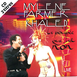 Mylene-Farmer-amp-Khaled-CD-Single-La-Poupee-Qui-Fait-Non-Live-France-EX-EX