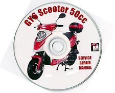 Chinese Scooter 50cc GY6 Service Repair Shop Manual on CD BASH BASHAN VIP TAOTAO