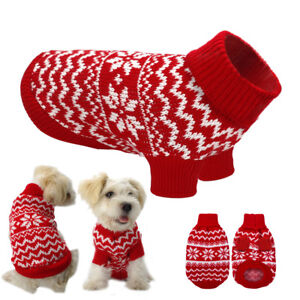 003b87512 Small Dog Clothes Pet Winter Sweater Knitwear Puppy Clothing Warm ...