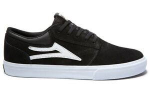 Lakai-Shoes-Griffin-Black-White-Suede-USA-SIZE-Skateboard-Sneakers