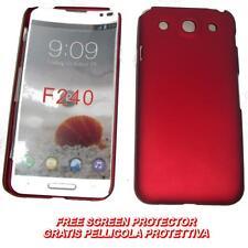 Pellicola+custodia BACK COVER RIGIDA ROSSO per LG Optimus G Pro E985 E980 (B2)