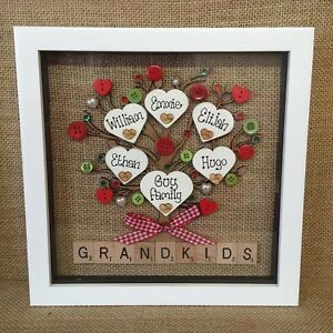 Image Is Loading Personalised Box Frame Grandchildren Grandparents Nana Grandma Mum