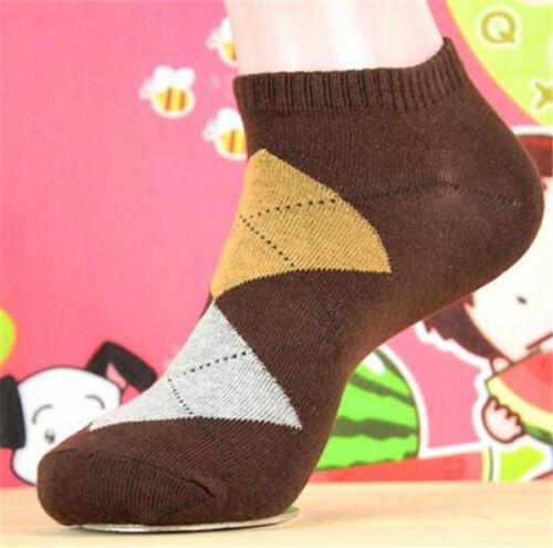 Fashion Men/'s Kids Socks Argyle Dress Socks New Ankle Cotton Boat Socks 1 Pair