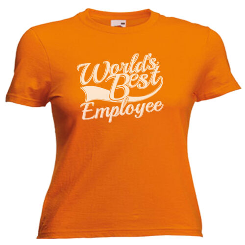 World/'s Best Employee Gift Ladies Lady Fit T Shirt 13 Colours Size 6-16