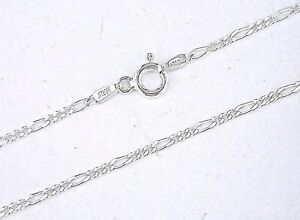 925-Solid-Sterling-Silver-Italian-Figaro-Chain-16-034-18-034-20-034-1-4mm-New-Made-i
