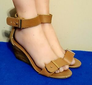 19f50b686a4 Image is loading WOMENS-STEVE-MADDEN-LEATHER-NARISSAA-WEDGE-SANDALS-SHOES-