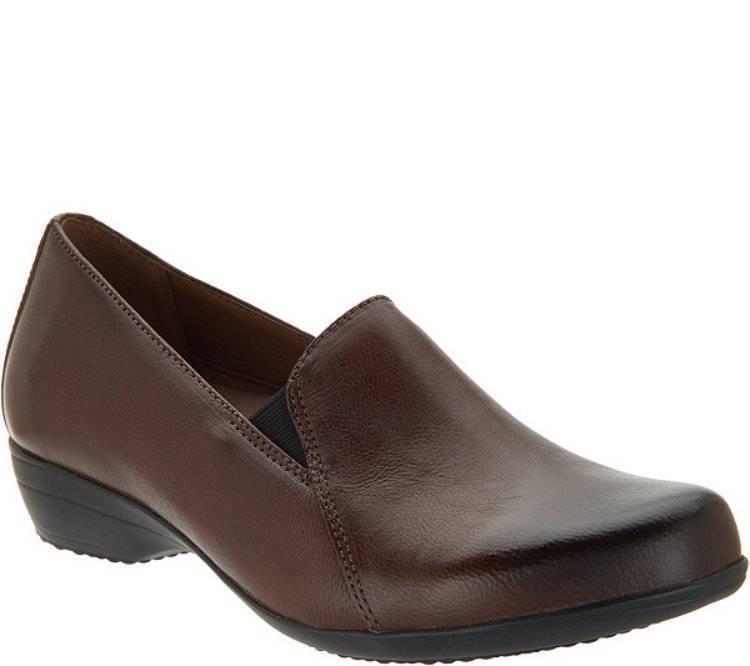 NewDansko Leather Slip-On LoafersFarahChocolate Brown376.5 - 7
