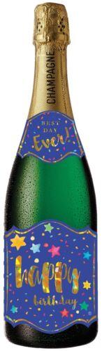 Pictura Champagne Bottle Sound Card HAPPY BIRTHDAY - PC-0210-056 STARS