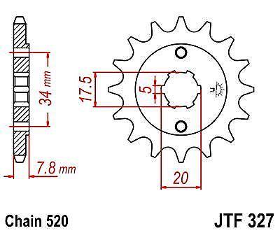 JT Front Sprocket JTF327 13t fits Honda CRF230 03-15
