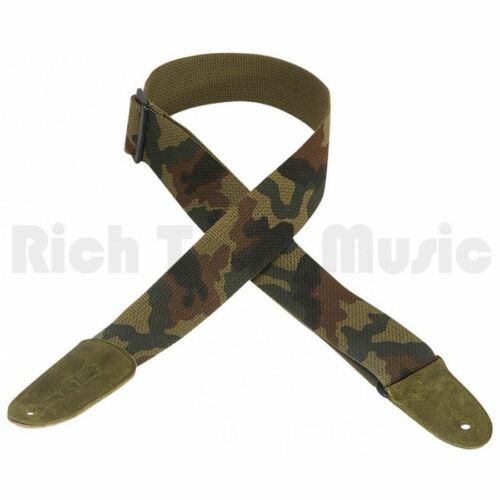 Levy/'s 2 Inch Cotton Guitar Strap with Leather Ends Camo