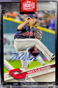 🔥 2019 Mike Clevinger Auto /76 Topps Archives Signature Series On Card 2017