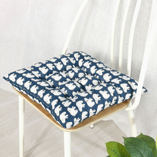 Thick Chair Seat Pad Tie On Cushions Dining Garden Kitchen Square Floor Pads