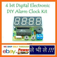 E82N DIY 4 bit Digital LED Electronic Alarm Clock Kit with AT89C2051 for Arduino