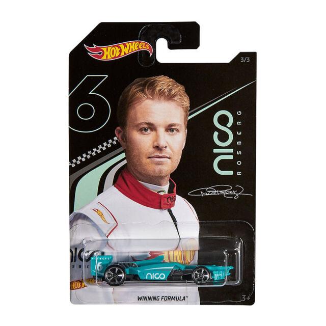 Hot Wheels GGC34-37 Winning Formula Turquoise - Designed By Nico Rosberg 1:64