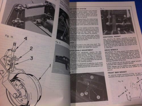Bush Hog 9670 9690 NO TILLAGE DRILLS  Operation Assembly Catalog Manual Book