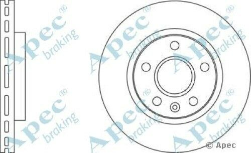 Pair 1x OE Quality Replacement Front Axle Apec Vented Brake Disc 5 Stud 296mm