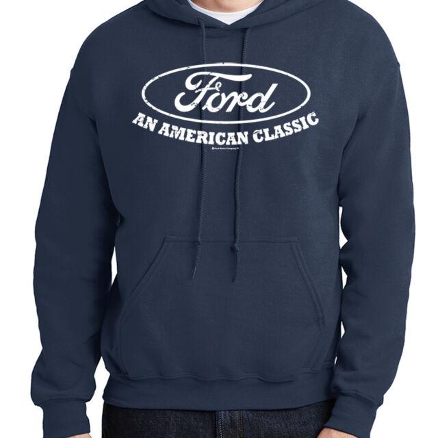 Ford Mustang Cobra Hoodie Cars Trucks Tough Motor Pullover Sweatshirt NEW