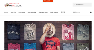 new varieties 50-70%off official store Details about T-Shirt Printing online business website for sale Free  Hosting Work Online Make$