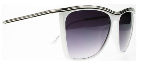 Cool Para Hombre O Mujer Clásico De Metal Blanco estilo retro y vintage diseño de tonos Wayfarer
