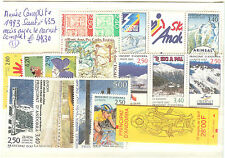 ANDORRE FRANCE ANNEE COMPLETE 1993 ** SAUF YVERT N° 435 MAIS AVEC CARNET COMPLET