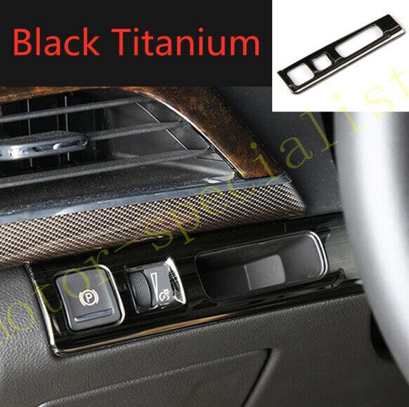 Black Titanium Headlight Switch Button Frame Trim For