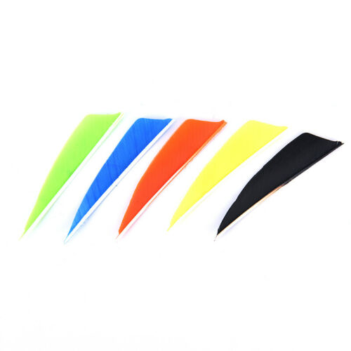 "50pcs 3/"" Arrow Feathers 12 Color Turkey Feather Archery Arrow Accessories BL"