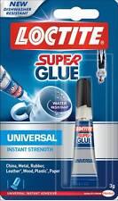 Loctite Super Glue 3g Tubo Resistente al Agua Instantáneo Universal fuerza Pegamento