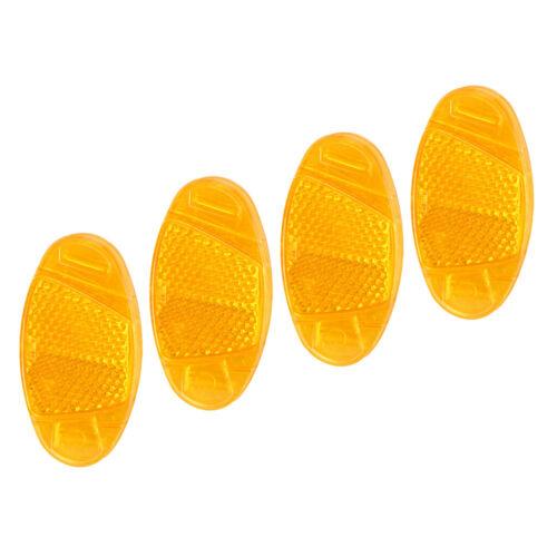 gelb Speichenstrahler 4x Fahrrad Speichen Reflektoren Katzenauge orange