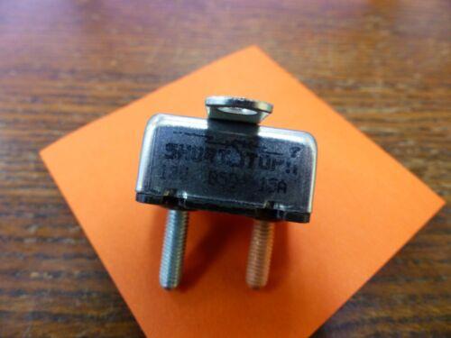 Bussmann Short Stop  121-A-15-A-2-M  15amp Circuit breaker NEW Qty 5 Per Lot