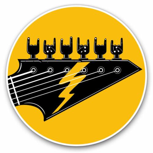 ROCK BAND MUSICA CHITARRA ELETTRICA COOL Regalo #12984 2 x adesivi in vinile 7.5cm