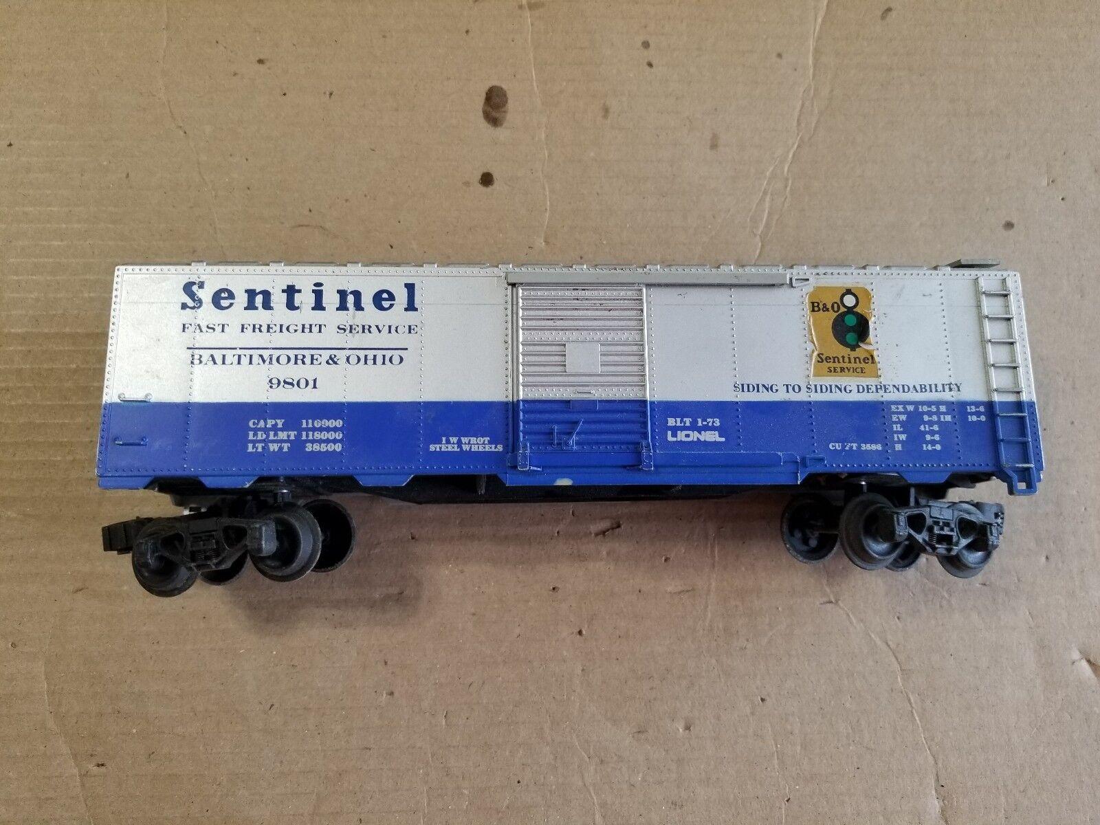 Lionel O Scale B&O Sentinel Box Car