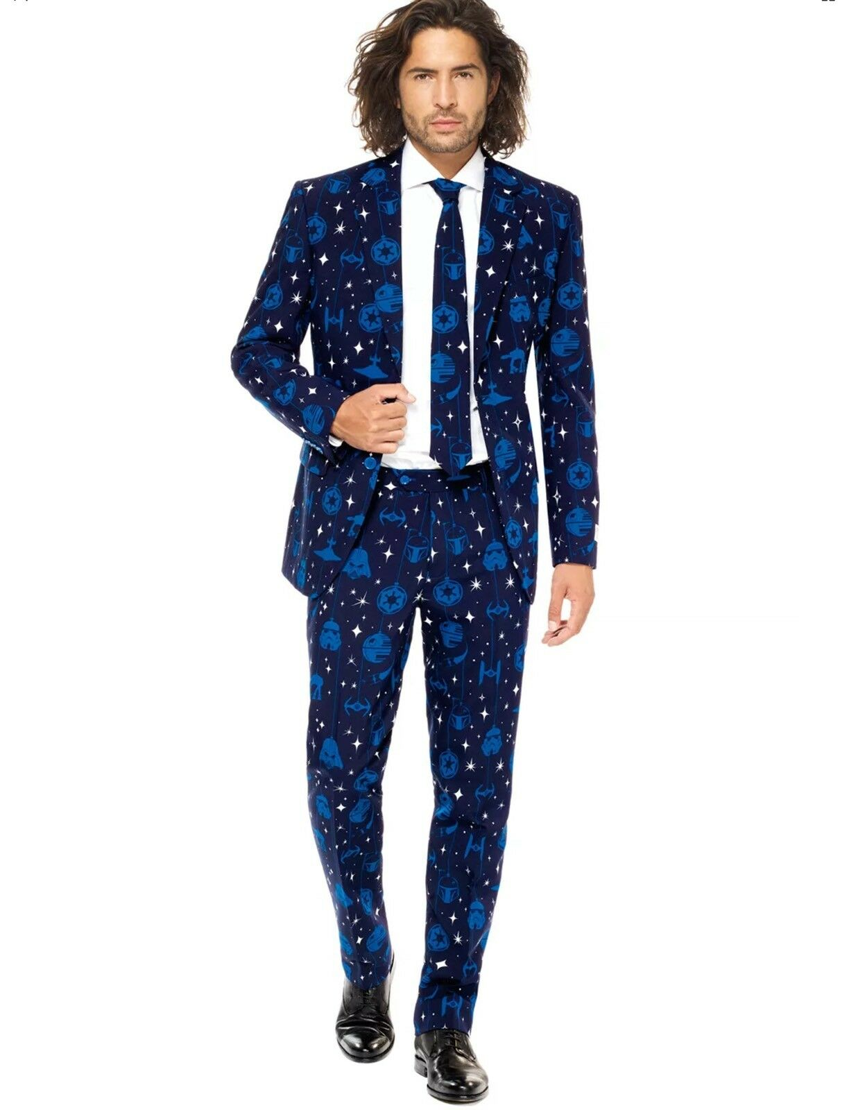 50R NEW OPPO SUITS STAR WARS STARRY SIDE  Herren SUIT WITH TIE 42X34