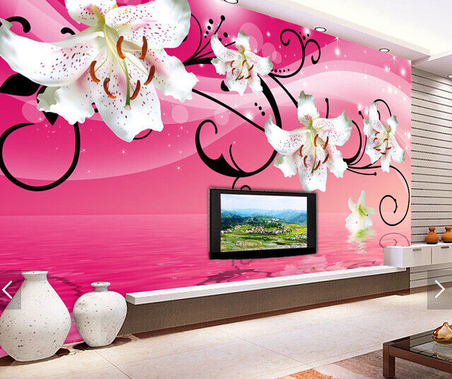 3D Lily Squid 4109 Wallpaper Murals Wall Print Wallpaper Mural AJ WALL UK Carly