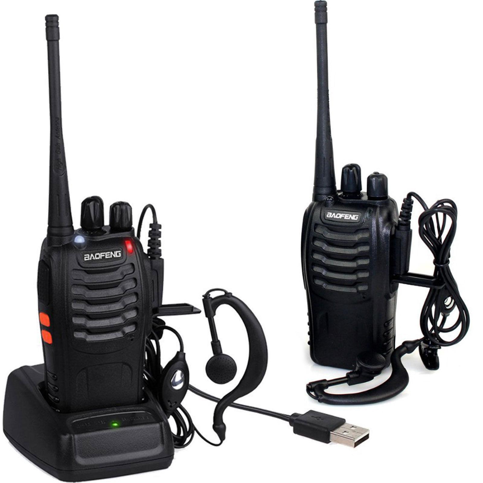 2x Walkie Talkie BF-888S UHF 400-470MHz 5W 16CH Portable Two-Way Radio AU Stock 2