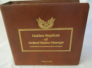 22K Golden Replicas United States 41 Stamps Envelopes Diverse Subjects