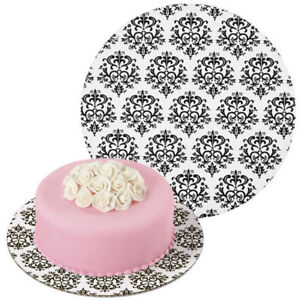 Wilton 12 Inch Damask Round Cake Boards Display Stand Party Decorating 3 Pk