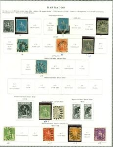 EDW1949SELL : BARBADOS Nice Mint & Used collection on Scott pgs. Scott Cat $932.